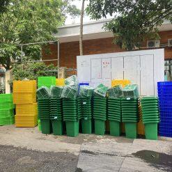 Thùng rác công nghiệp Nhựa Bình Thuận tại kho Hà Nội