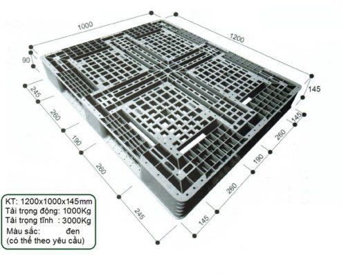 Pallet 1200x1000x145 - Nhựa Bình Thuận số lượng lớn, giá sỉ, giá đại lý