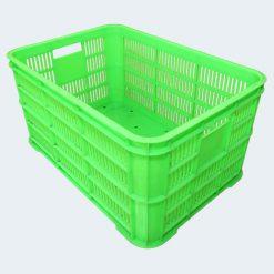 Thùng nhựa 6 sóng hở đáy đặc - Nhựa Bình Thuận - Số lượng lớn - Giá sỉ, giá đại lý