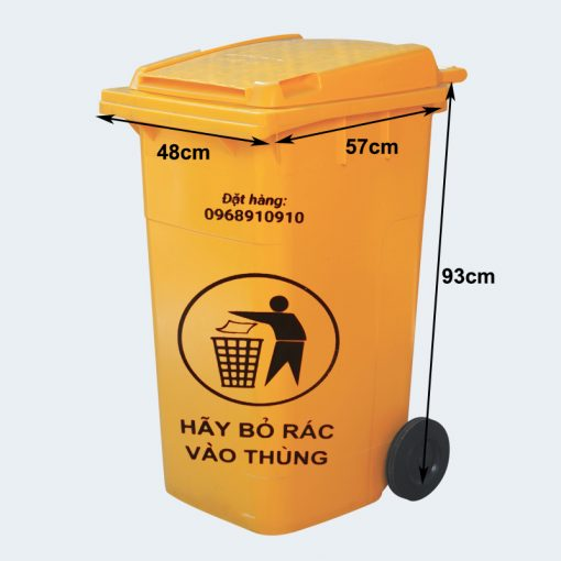 Thùng rác công nghiệp 120 lít - Nhựa Bình Thuận tại Hà Nội