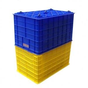 Thùng nhựa kích thước: 78x50x43cm - Có bánh xe